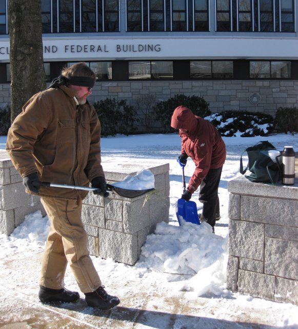 12 Jim and Mike Build the Snow Seige Wall
