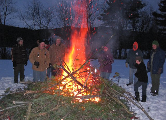 Bonfire in the Snow