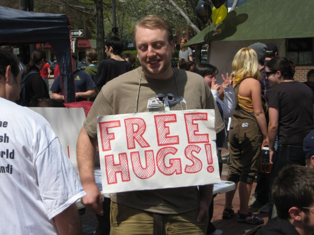 Peace through hugs