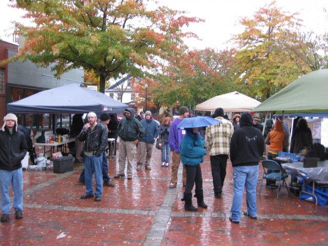 A festival, despite the rain