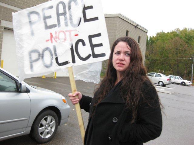 Antigone comes from CA to protest