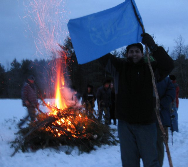 Muhammed Prepared his UN Flag for Burning