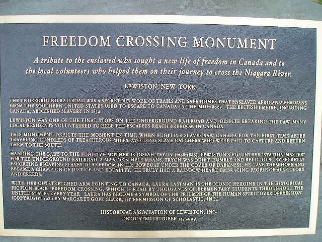 Freedom Crossing Monument in Lewiston, NY